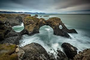 Fotos Meer Küste Irland Felsen
