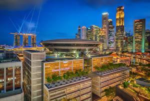 Fotos Singapur Haus Nacht
