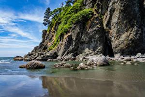 Bilder USA Stein Washington Felsen Quileute Reservation