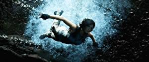 Hintergrundbilder Unterwasserwelt Tomb Raider Lara Croft Schwimmt Shadow of the Tomb Raider 3D-Grafik Mädchens