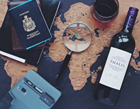 Wallpapers Wine Geography Map Magnifier Magnifying glass English Tourism