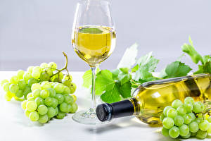 Images Wine Grapes Bottles Stemware Food