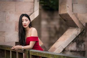 Bilder Asiaten Posiert Haar Starren Brünette