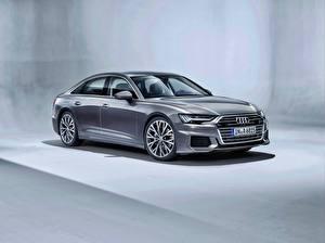 桌面壁纸,,奥迪,灰色,金屬漆,A6 50 TDI quattro S line Worldwide,汽车