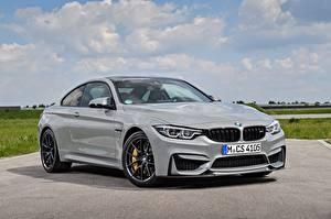 Bilder BMW Grau Metallisch Coupe F82 M4 Autos