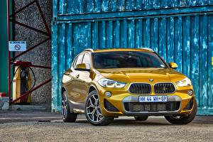 Image BMW Front CUV Gold color X2 F39 automobile