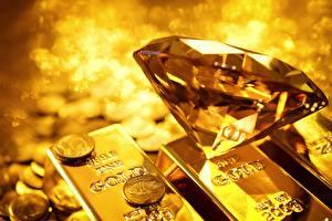 Fotos Brillant Gold Barren Metall