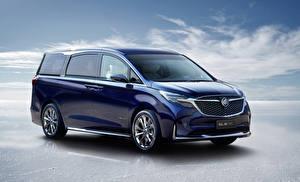Bilder Buick Ein Van Blau Metallisch 2019 GL8 Avenir Concept