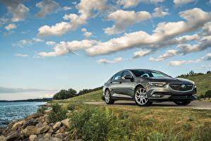 Hintergrundbilder Buick Metallisch Graue 2019 Regal Avenir automobil