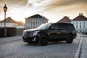 Fotos Cadillac Seitlich Schwarz Metallisch Escalade 2018 Autos