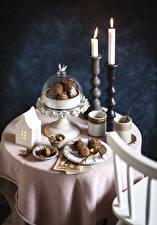Fotos Kerzen Süßigkeiten 2 Tasse das Essen