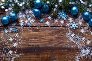 Hintergrundbilder Neujahr Kugeln Bretter Schneeflocken Vorlage Grußkarte