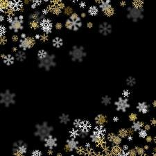 Hintergrundbilder Neujahr Schwarzer Hintergrund Schneeflocken Vorlage Grußkarte