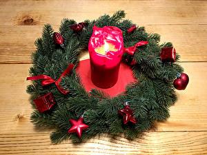 Bilder Neujahr Kerzen Bretter Ast Design Kleine Sterne