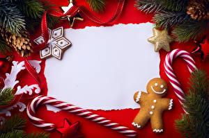 Hintergrundbilder Neujahr Kekse Dauerlutscher Vorlage Grußkarte Ast Design Zapfen Band das Essen