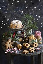 Hintergrundbilder Neujahr Backware Keks Kekse Dauerlutscher Beere Stillleben Design Lebensmittel