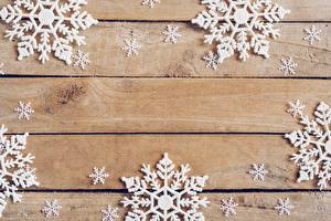 Bilder Neujahr Schneeflocken Bretter Vorlage Grußkarte