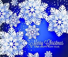 Bilder Neujahr Vektorgrafik Englisch Schneeflocken