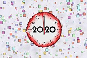 Hintergrundbilder Zifferblatt Neujahr 2020