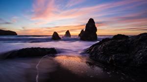 Fotos Küste Meer Sonnenaufgänge und Sonnenuntergänge Felsen Natur