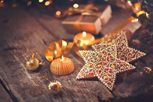 Hintergrundbilder Kekse Neujahr Kerzen Stern-Dekoration Lebensmittel
