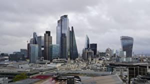 Sfondi desktop Inghilterra Grattacieli Londra Megalopoli