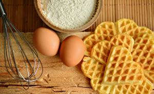 Picture Flour Pastry Waffles Egg Heart