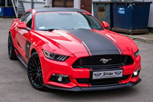 Image Ford Red Mustang GTR automobile
