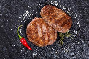 Fotos Fleischbällchen Chili Pfeffer 2 Salz