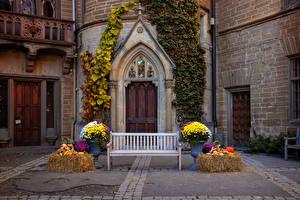 Bilder Deutschland Burg Tür Design Bank (Möbel) Hohenzollern castle