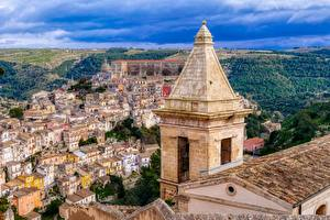 Image Building Sicily Italy From above Tower Ragusa Cities