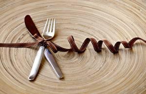 Hintergrundbilder Messer Band Schleife Essgabel