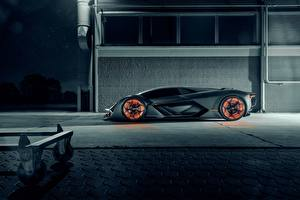 Wallpaper Lamborghini Side Hypercar, Terzo Millennio Cars
