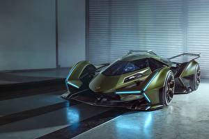 Fotos Lamborghini Grün Lambo V12 Vision 2019 Concept Autos