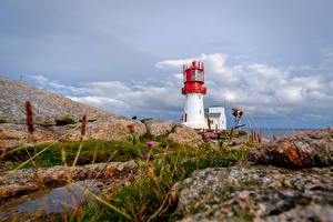 Hintergrundbilder Leuchtturm Norwegen Felsen Lindesnes Natur