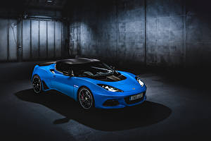 Wallpaper Lotus Light Blue 2018-19 Evora GT410 Sport Cars
