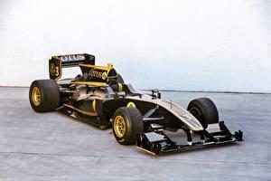 Bakgrundsbilder på skrivbordet Lotus Formel 1 Svart 2010-11 T125 Exos automobil