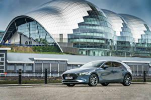 Hintergrundbilder Mazda Grau Metallisch 2019 Mazda3 Skyactiv-G Hatchback