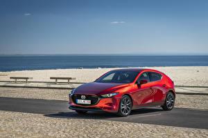Hintergrundbilder Mazda Rot 2019 Mazda3 Skyactiv-G Hatchback Worldwide automobil