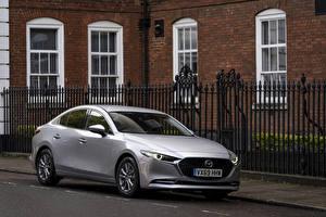 Sfondi desktop Mazda Metallizzato D'argento 2019 Mazda3 Skyactiv-X Sport Sedan macchine
