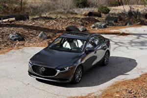 Fotos Mazda Schwarz Metallisch Limousine 2020 Mazda3 Autos