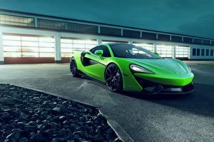 Hintergrundbilder McLaren Grün Metallisch Novitec, 570GT Autos
