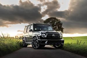Bilder Mercedes-Benz Schwarz AMG, Inferno, G-Class, Gelandewagen, G63, Manhart, 2019, G 700 Autos