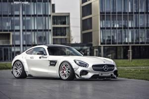 Hintergrundbilder Mercedes-Benz Weiß Coupe AMG Prior-Design C190 PD800GT GT-Class auto