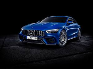 Wallpaper Mercedes-Benz Blue Metallic Concept GT-Class auto