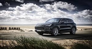 Bilder Porsche Schwarz Metallisch Cayenne, 2018 automobil