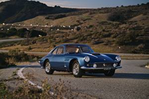 Wallpaper Retro Ferrari Blue Metallic  automobile