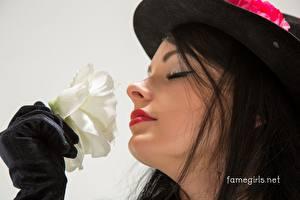 Hintergrundbilder Rose Katie Famegirls Gesicht Schminke Model Der Hut Brünette Mädchens