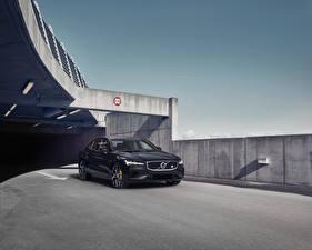 Wallpaper Volvo Black Metallic 2018-19 S60 T8 Polestar Engineered