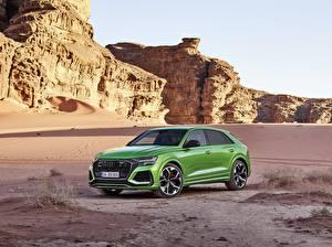 Fotos Audi Grün Metallisch Softroader 2020, RS Q8